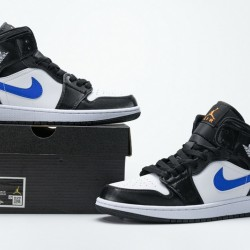 "Air Jordan 1 Mid ""Astronomy Blue"" Black Blue White 554724-084 36-46"