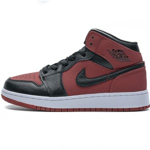 "Air Jordan 1 Mid ""Banned Gym Red"" Red Black 554725-610 36-46"