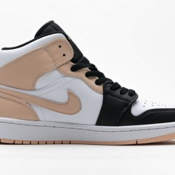 "Air Jordan 1 Mid ""Crimson Tint"" White Black Pink 554725-133"