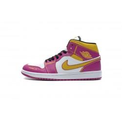 """Air Jordan 1 Mid """"Dia de los Muertos"""" White Yellow Pink DC0350-100 36-45"""