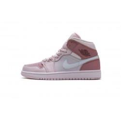 "Air Jordan 1 Mid ""Digital Pink"" Pink White CW5379-600"