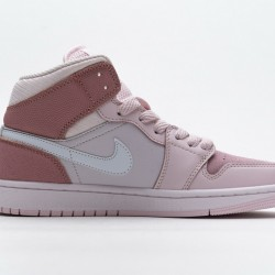 "Air Jordan 1 Mid ""Digital Pink"" Pink White CW5379-600"