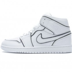 "Air Jordan 1 Mid ""Iridescent Outline"" White Black CK6587-100 36-46"