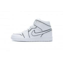 """Air Jordan 1 Mid """"Iridescent Outline"""" White Black CK6587-100 36-46"""