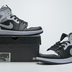 "Air Jordan 1 Mid ""White Shadow"" Black White Grey 554724-073 36-45"
