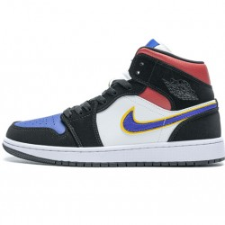 "Air Jordan 1 Mid ""Lakers Top 3"" Red Blue Black 852542-005 36-46"