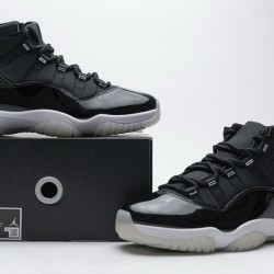 "Air Jordan 11 ""25th Anniversary"" Black Silver Eyelets CT8012-011 40-47"