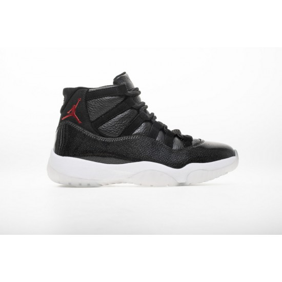 Air Jordan 11 72-10 Black White 378037-002
