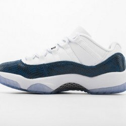 "Air Jordan 11 Low ""Navy Blue Snakeskin"" White Blue CD6846-102"