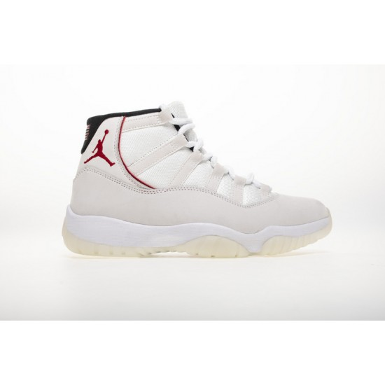 Air Jordan 11 Platinum Tint White Red 378037-016