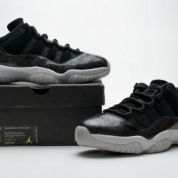 """Air Jordan 11 Retro Low """"Barons"""" Black White 528895-010"""