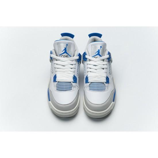 "New Air Jordan 4 ""Military Blue"" White Blue 308497-105 40-46 Shoes"