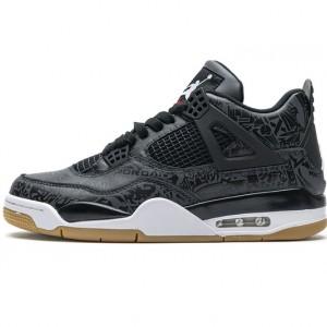 "Air Jordan 4 Retro ""Black Laser"" Black White CI1184-001"