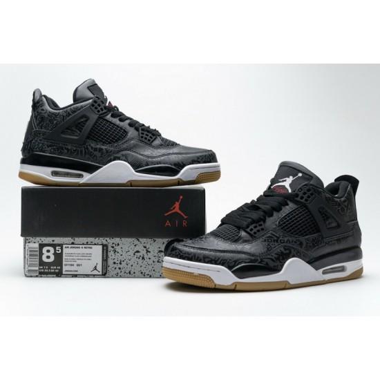 Air Jordan 4 Retro Black Laser Black White CI1184-001