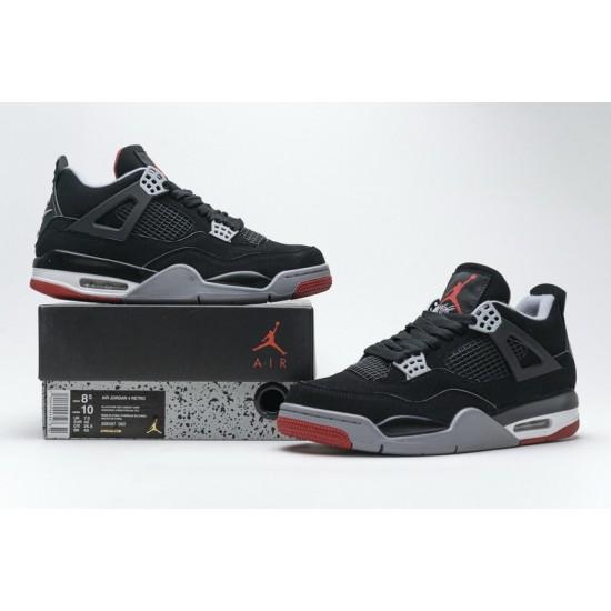 Air Jordan 4 Retro Bred Black Red 308497-060
