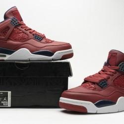"Air Jordan 4 Retro ""FIBA Gym Red"" Red Black CI1184-617"