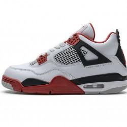 "Air Jordan 4 Retro ""Fire Red"" White Black Red 308497-110"