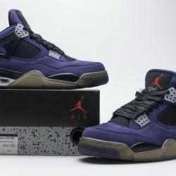 "Travis Scott x Air Jordan 4 Retro ""Purple Suede"" Purple Black AJ4-766302"