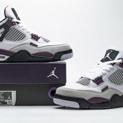 "PSG x Air Jordan 4 ""Paris Saint Germain"" White Purple CZ5624-100"