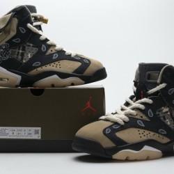"""Air Jordan 6 Retro SP """"Paisley Print"""" Black Brown CT5058-001"""
