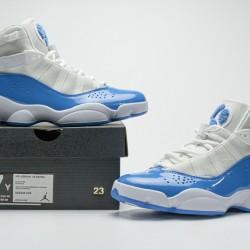 "Air Jordan 6 Rings BG ""UNC"" White Blue CW7037-100 40-45"