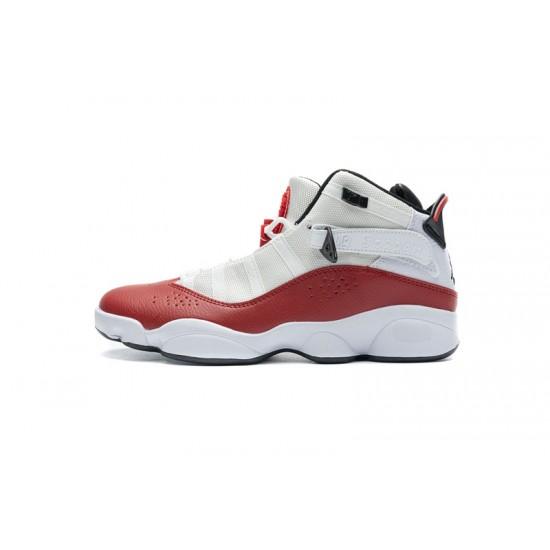 2020 Air Jordan 6 Rings BG White Red Lifestyle 323419-120 36-45 Shoes