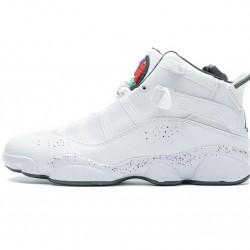 """Air Jordan 6 Rings """"Paint Splatter"""" All White 322992-100 36-45"""