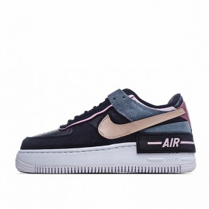 "Nike Air Force 1 Shadow ""Black Light Arctic Pink"" Black Pink CU5315-001"