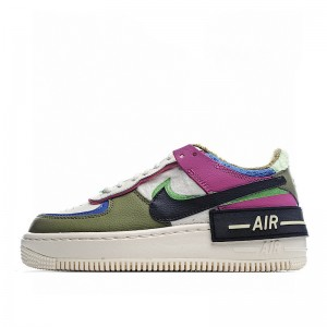 "Nike Air Force 1 Shadow ""Cactus Flower"" Purple Green White CT1985-500"