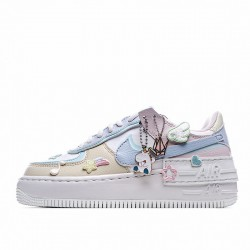"Nike Air Force 1 Shadow ""Pastel"" White Blue Pink CI0919-106"