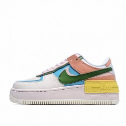 "Nike Air Force 1 Shadow ""Multi Color"" White Blue Red CW2630-101"