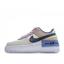 "Nike Air Force 1 Shadow ""Crimson Tint Volt"" White Pink Green CU8591-001"