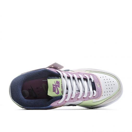 Nike Air Force 1 Shadow Crimson Tint Volt White Pink Green CU8591-001