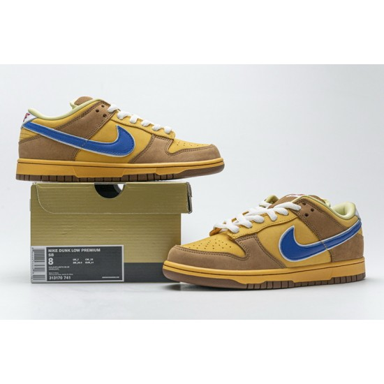 """New Nike SB Dunk Low """"Newcastle Brown Ale"""" Brown Yellow Blue 313170-741 40-47 Shoes"""
