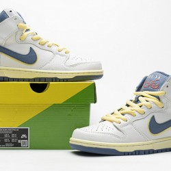 "Atlas x Nike SB Dunk High ""Lost At Sea"" White Blue Yellow CZ3334-100 36-47"
