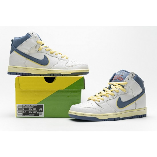 """Best Atlas x Nike SB Dunk High """"Lost At Sea"""" White Blue Yellow CZ3334-100 36-47 Shoes"""