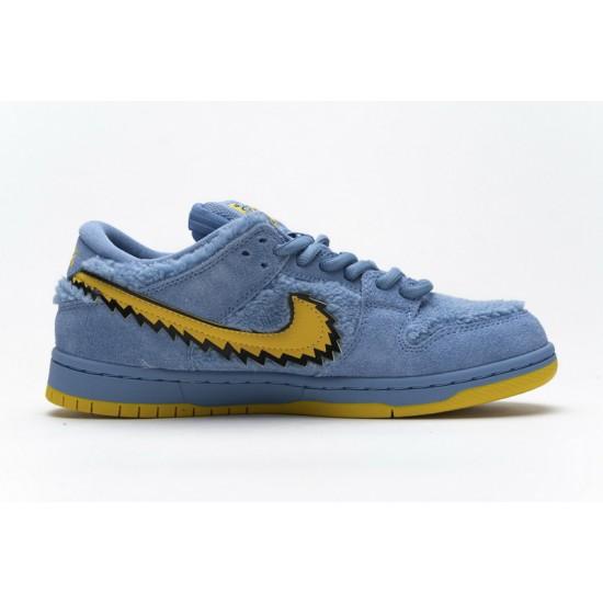 Grateful Dead x Nike SB Dunk Low Pro QS Blue Bear Blue Yellow CJ5378-400