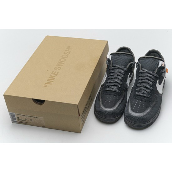 Off-White x Nike Air Force 1 Low Black White AO4606-001