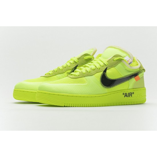 Off-White x Nike Air Force 1 Low Volt Green Black AO4606-700