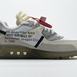 "Off-White x Nike Air Max 90 ""The Ten"" All White AA7293-100"
