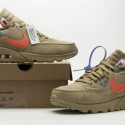"Off-White x Nike Air Max 90 ""Desert Ore"" Brown Orange AA7293-200"
