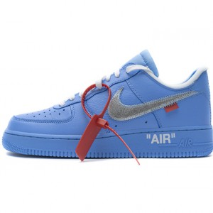 """Off-White x Nike Air Force 1 07 Low """"MCA"""" Blue Silver CI1173-400"""