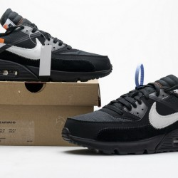 "Off-White x Nike Air Max 90 ""Black"" All Black AA7293-001"